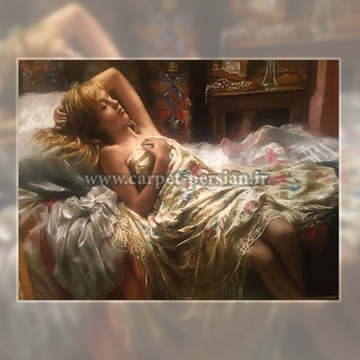 Persian Handmade Pictorial Carpet of The Sleeping Beauty Girl, Pictorial Carpet Price,Pictorial Carpets Iran,Persian Pictorial Rug,Tabriz   Pictorial Carpet,Persian Rug Tableau,Handmade Carpet Tableau,Carpet Tableau,Tableau Rug,Rug Tableau,Pictorial Carpet,Rug Tableau,Carpet   Tableau